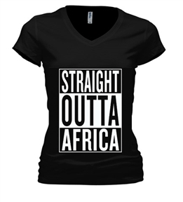straight_outta_africa WOmen SHIRT